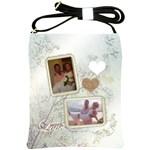 White Love Wedding Sling Bag - Shoulder Sling Bag
