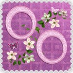 Spring flower floral purple scrapbook page 12x12 - ScrapBook Page 12  x 12