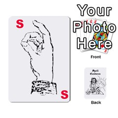 Wavinghands Spell Gesture Cards By Walt O hara   Playing Cards 54 Designs   Df9dq1w9ss5j   Www Artscow Com Front - Spade7
