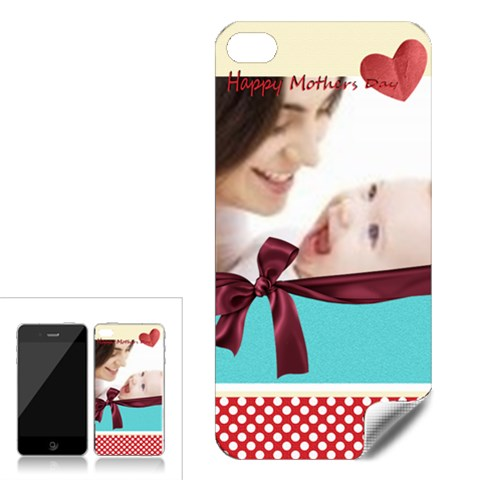 Happy Mothers Day By Joely   Apple Iphone 4 Skin   S0ssj187eeuv   Www Artscow Com Front
