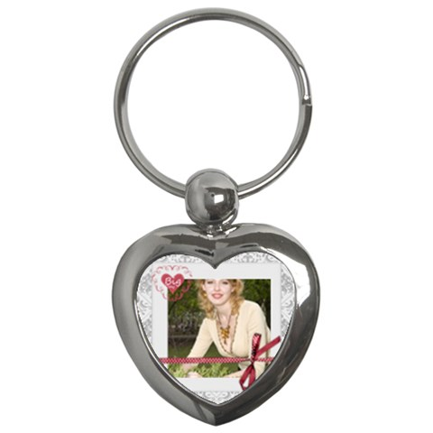 Big Day By Joely   Key Chain (heart)   75g6hq880um1   Www Artscow Com Front