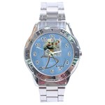 Dad Stainless Steel Watch - Stainless Steel Analogue Watch