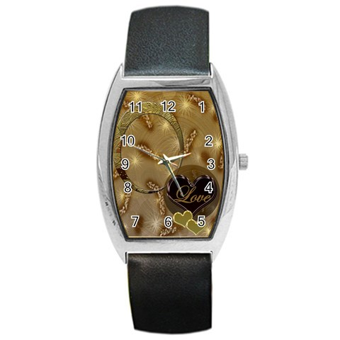 I Heart You Gold Love Oval1 Custom Barrel Watch By Ellan   Barrel Style Metal Watch   Sv9klsme4mo4   Www Artscow Com Front