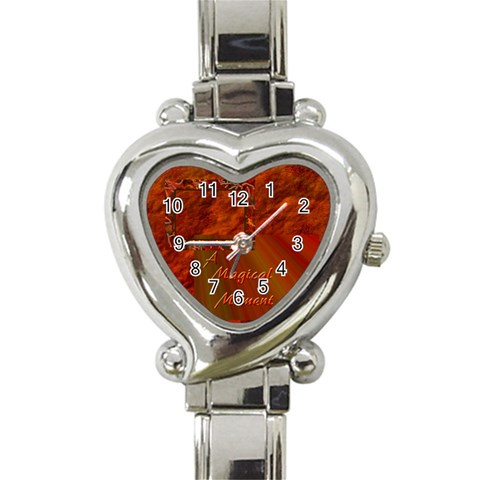 Magical Moment Custom Heart Italian Charm Watch By Ellan   Heart Italian Charm Watch   Bn8u3amnkd8v   Www Artscow Com Front
