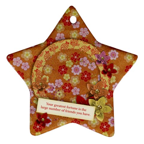 Friends Star Ornament By Mikki   Ornament (star)   Ewyc4yydgc87   Www Artscow Com Front