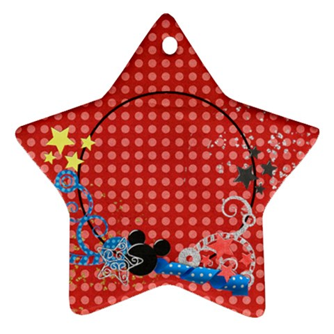 Our Vacation/magic, Star Ornament By Mikki   Ornament (star)   Axd13bw4jzbu   Www Artscow Com Front
