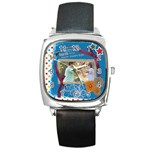 happy family - Square Metal Watch