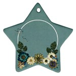 Floral, blue- star ornament - Ornament (Star)