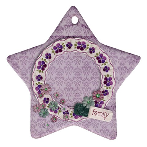 Family, Star Ornament By Mikki   Ornament (star)   T89r64siqsxt   Www Artscow Com Front