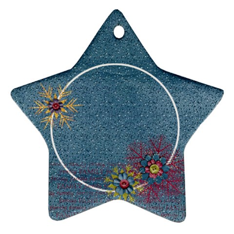 Snowflakes, Family  Star Ornament By Mikki   Ornament (star)   5tslncruqh08   Www Artscow Com Front