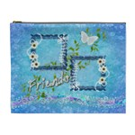 Spring flower floral blue XL Cosmetic Bag - Cosmetic Bag (XL)