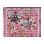 Spring flower floral pink XL Cosmetic Bag - Cosmetic Bag (XL)