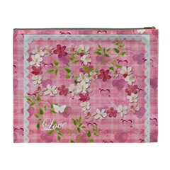 Spring Flower Floral Pink Xl Cosmetic Bag By Ellan   Cosmetic Bag (xl)   Ny1qo99t70yx   Www Artscow Com Back