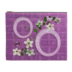 Spring Flower Floral Purple Xl Cosmetic Bag By Ellan   Cosmetic Bag (xl)   W3k38a249lag   Www Artscow Com Front