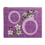 Spring flower floral purple XL Cosmetic Bag - Cosmetic Bag (XL)