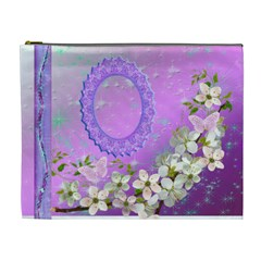 Spring Flower Floral Purple2 Xl Cosmetic Bag By Ellan   Cosmetic Bag (xl)   0eld2b89qz58   Www Artscow Com Front