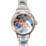 11111111 - Round Italian Charm Watch