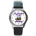 spelling bee watch for amanda - Round Metal Watch
