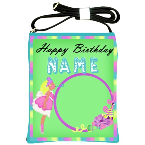 Birthday Name Bag By Jaimie Lanier   Shoulder Sling Bag   025o3tfi2pdt   Www Artscow Com Front