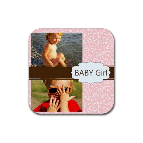 Baby Girl By Joely   Rubber Coaster (square)   Wawsyptdnp3e   Www Artscow Com Front