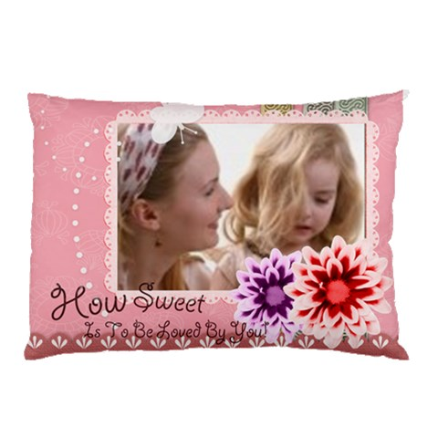 How Sweet  To Be Loved By You By Joely   Pillow Case   2ebk6g0qebmb   Www Artscow Com 26.62 x18.9 Pillow Case