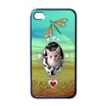 Peaceful Butterfly Apple iPhone Case - Apple iPhone 4 Case (Black)