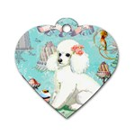 Whte Poodle Cakes Cupcake  Dog Tag Heart (One Side)