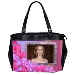 Fresh flower Oversized Office Bag (2 sided) - Oversize Office Handbag (2 Sides)