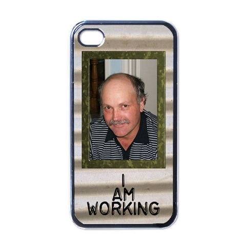 Working Man s Iphone 4 Skin By Deborah   Apple Iphone 4 Case (black)   C0dqr23edh8l   Www Artscow Com Front