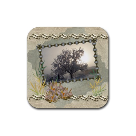 Tree Frost By Ellan   Rubber Coaster (square)   Wa0omdw5d4ox   Www Artscow Com Front