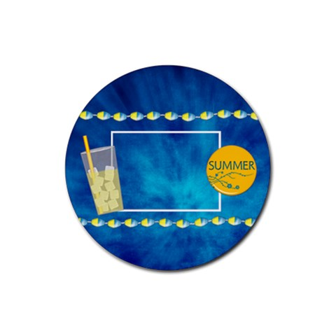 Summers Burst Round 4pk Coaster Set 1 By Lisa Minor   Rubber Round Coaster (4 Pack)   Zxfobpcer84a   Www Artscow Com Front