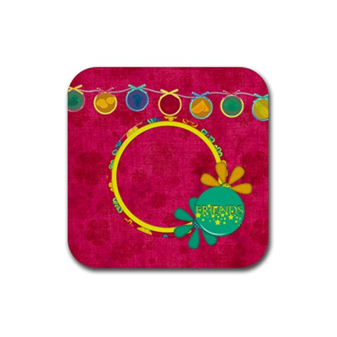 Summers Burst Coaster Set 2 By Lisa Minor   Rubber Square Coaster (4 Pack)   Ye8azvc1b6vb   Www Artscow Com Front
