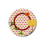 Miss Ladybugs Garden 4pk Round Coaster Set 1 - Rubber Round Coaster (4 pack)