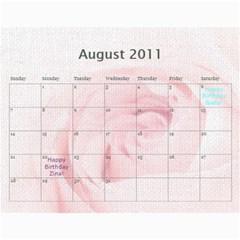 Innas Md By Enessa Zak   Wall Calendar 11  X 8 5  (18 Months)   Dby02v5q4q1n   Www Artscow Com Aug 2011