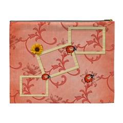 Sunflower Ladybug Cosmetic Bag (xl) By Elena Petrova   Cosmetic Bag (xl)   M3277qtdwsr0   Www Artscow Com Back