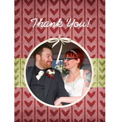 Wedding Thank You Card By Sooze   Greeting Card 4 5  X 6    Gc9s3rfdh4dl   Www Artscow Com Front Cover
