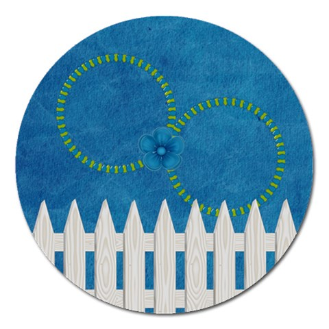 Celebrate May Round Magnet 2 By Lisa Minor   Magnet 5  (round)   9s2wlkpma508   Www Artscow Com Front