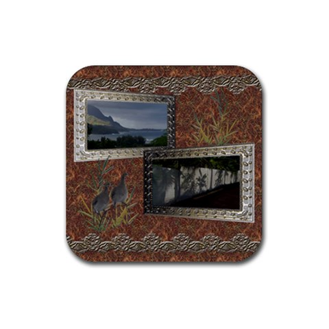 Shadow Frame  By Ellan   Rubber Coaster (square)   Wcxnf1id90xo   Www Artscow Com Front