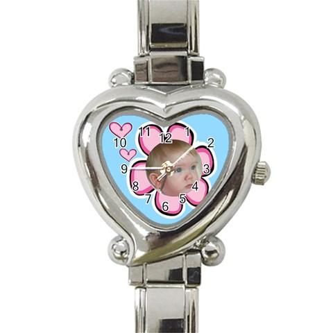 Our Little Girl Watch By Deborah   Heart Italian Charm Watch   2iw0go0eu2mn   Www Artscow Com Front