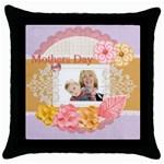 Mothersday - Throw Pillow Case (Black)