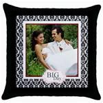big day - Throw Pillow Case (Black)
