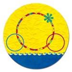 Summers Burst Round Magnet 1 - Magnet 5  (Round)