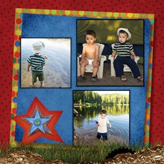 About A Boy Fishin! By Diann   Scrapbook Page 12  X 12    X9olhtsup6jn   Www Artscow Com 12 x12 Scrapbook Page - 1