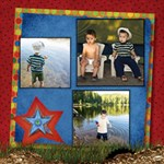 ABOUT A BOY FISHIN! - ScrapBook Page 12  x 12