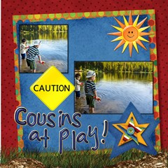 About A Boy Fishin! By Diann   Scrapbook Page 12  X 12    X9olhtsup6jn   Www Artscow Com 12 x12 Scrapbook Page - 2