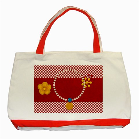 Celebrate May Tote 1 By Lisa Minor   Classic Tote Bag (red)   82vw2owrewow   Www Artscow Com Front