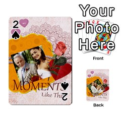 Moments By Joely   Playing Cards 54 Designs   5wgvjmfaoruf   Www Artscow Com Front - Spade2
