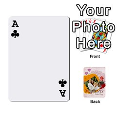 Ace Moments By Joely   Playing Cards 54 Designs   5wgvjmfaoruf   Www Artscow Com Front - ClubA