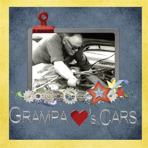 Grandpa Cars By Diann   Scrapbook Page 12  X 12    Vado7sa1mju5   Www Artscow Com 12 x12 Scrapbook Page - 1