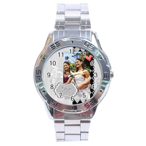 Wedding By Joely   Stainless Steel Analogue Watch   Wpyfipjap6nz   Www Artscow Com Front
